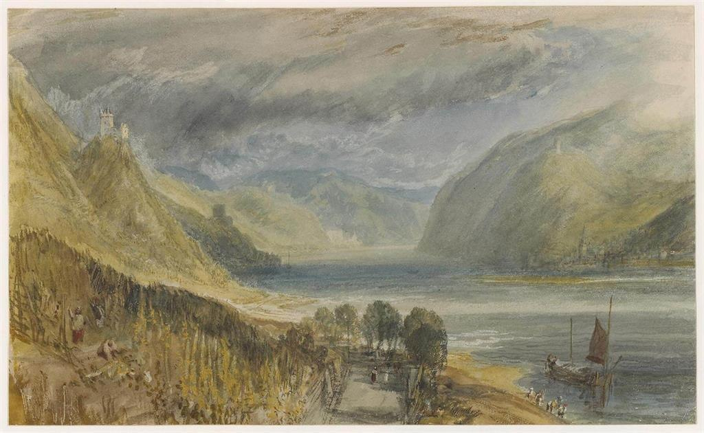 Blick in Richtung Burg Sooneck und Bacharach   © The Trustees of the British Museum